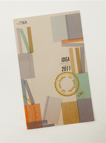 cover for idea grad show catalog